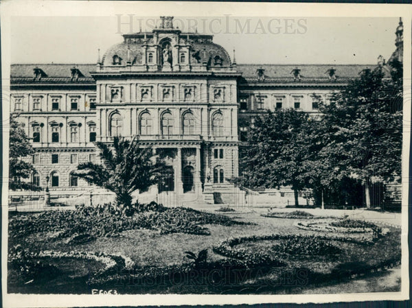1918 Vienna Austria Palace of Justice Press Photo - Historic Images