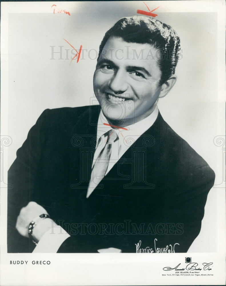 1962 Singer Pianist Buddy Greco Press Photo - Historic Images