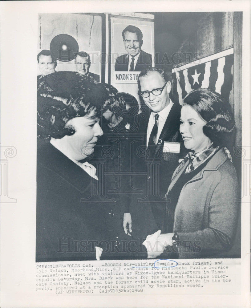 1968 Actress Shirley Temple Press Photo - Historic Images
