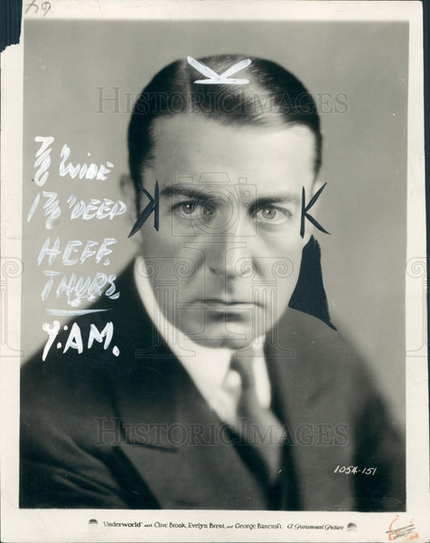 1927 Actor Clive Brook Press Photo - Historic Images
