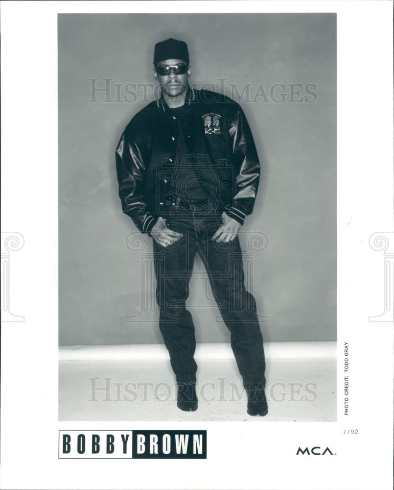1993 Singer Bobby Brown Press Photo - Historic Images