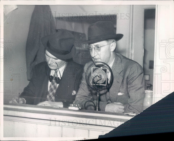 1935 Detroit Sports Announcer Ty Tyson Press Photo - Historic Images