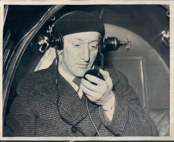 1936 Detroit Sports Announcer Ty Tyson Press Photo - Historic Images