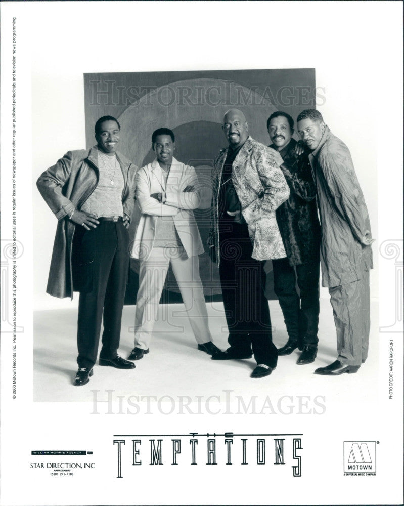2000 Music Group The Temptations Press Photo - Historic Images