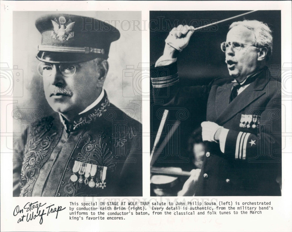 1986 Composer John Philip Sousa Press Photo - Historic Images