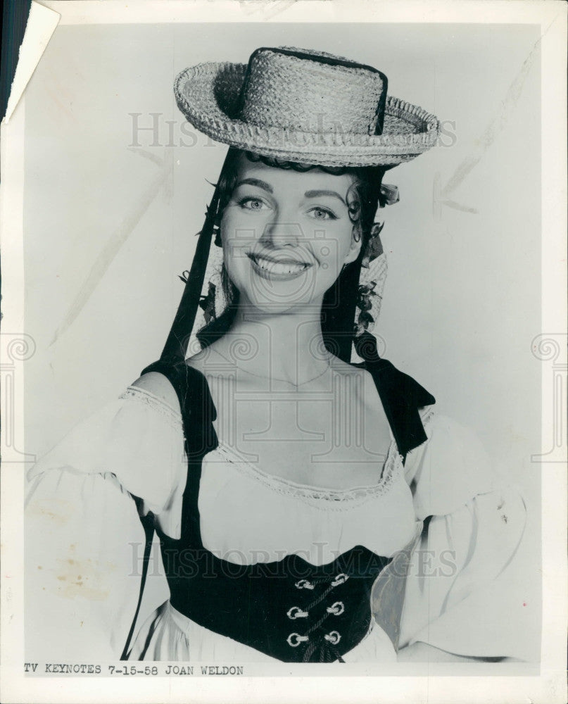 1958 Singer Actress Joan Weldon Press Photo - Historic Images
