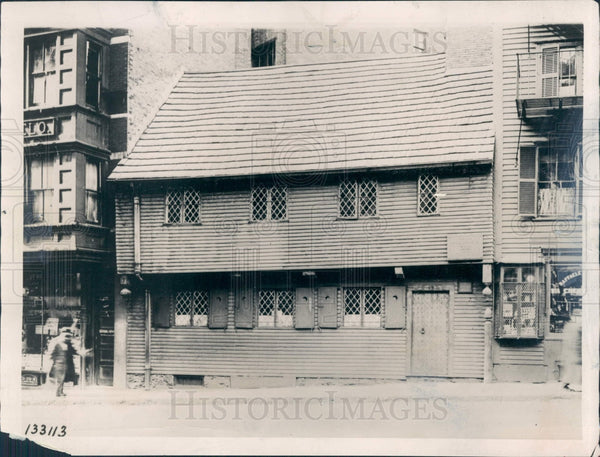 1922 Boston Paul Revere Home Press Photo - Historic Images
