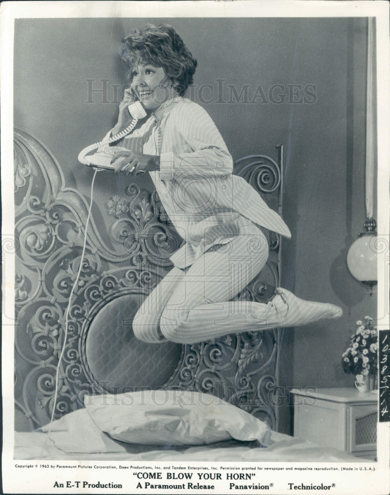 1963 Actress Barbara Rush Press Photo - Historic Images