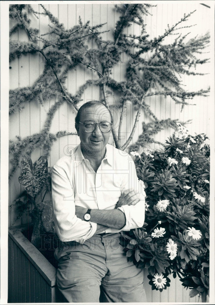1986 Playwright Neil Simon Press Photo - Historic Images