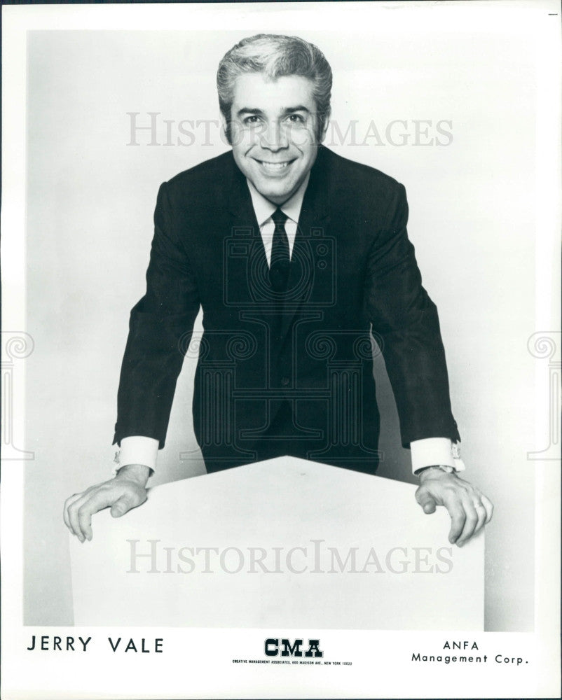 Undated Singer Jerry Vale Press Photo - Historic Images