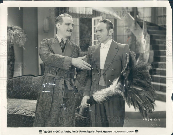 1930 Actors Frank Morgan & Charlie Ruggles Press Photo - Historic Images