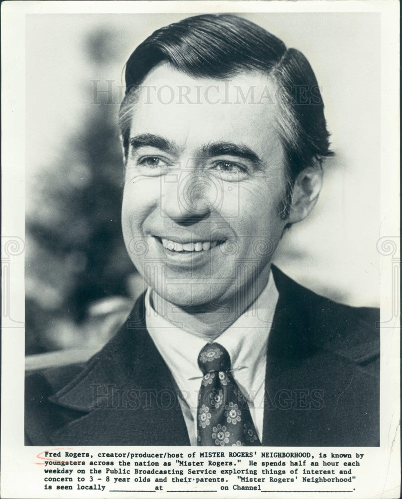 1979 Actor Mister Fred Rogers Press Photo - Historic Images