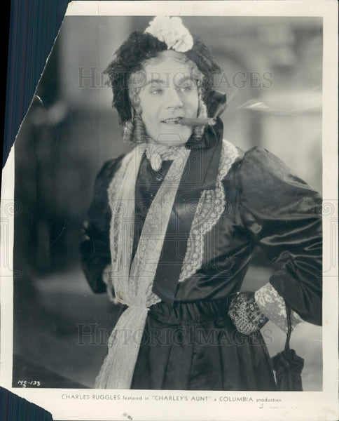 1931 Actor Charlie Ruggles Press Photo - Historic Images