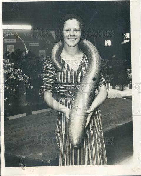 1931 Detroit State Fair Squash Press Photo - Historic Images