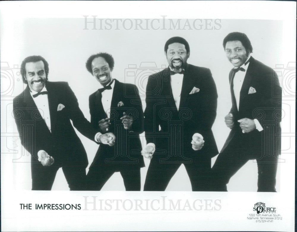 1989 Music Group The Impressions Press Photo - Historic Images