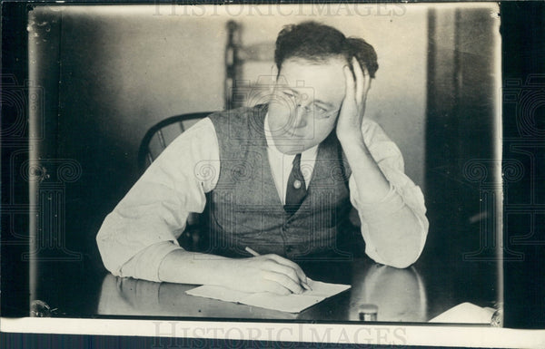 1923 Author Will Irwin Press Photo - Historic Images