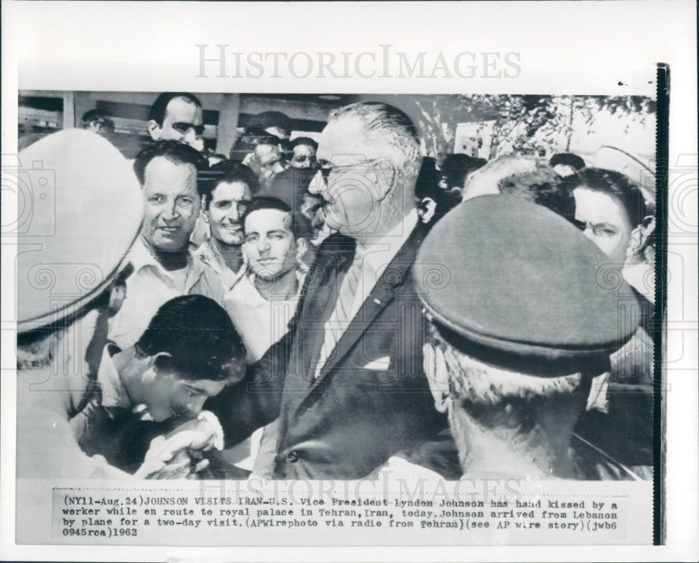 1962 US President Lyndon Johnson Press Photo - Historic Images