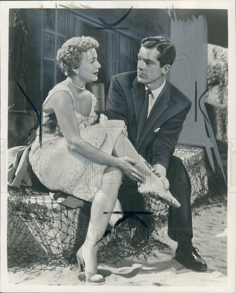 1956 Actors Betty Hutton & Dana Andrews Press Photo - Historic Images