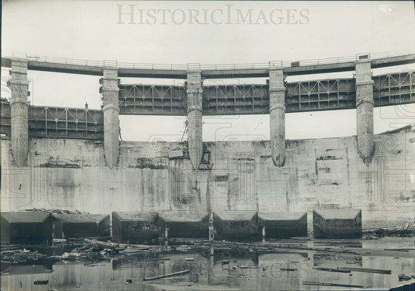1919 Panama Canal Gatun Dam Construction Press Photo - Historic Images