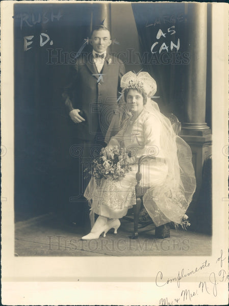 1923 Mr & Mrs Ney J. Ford Press Photo - Historic Images