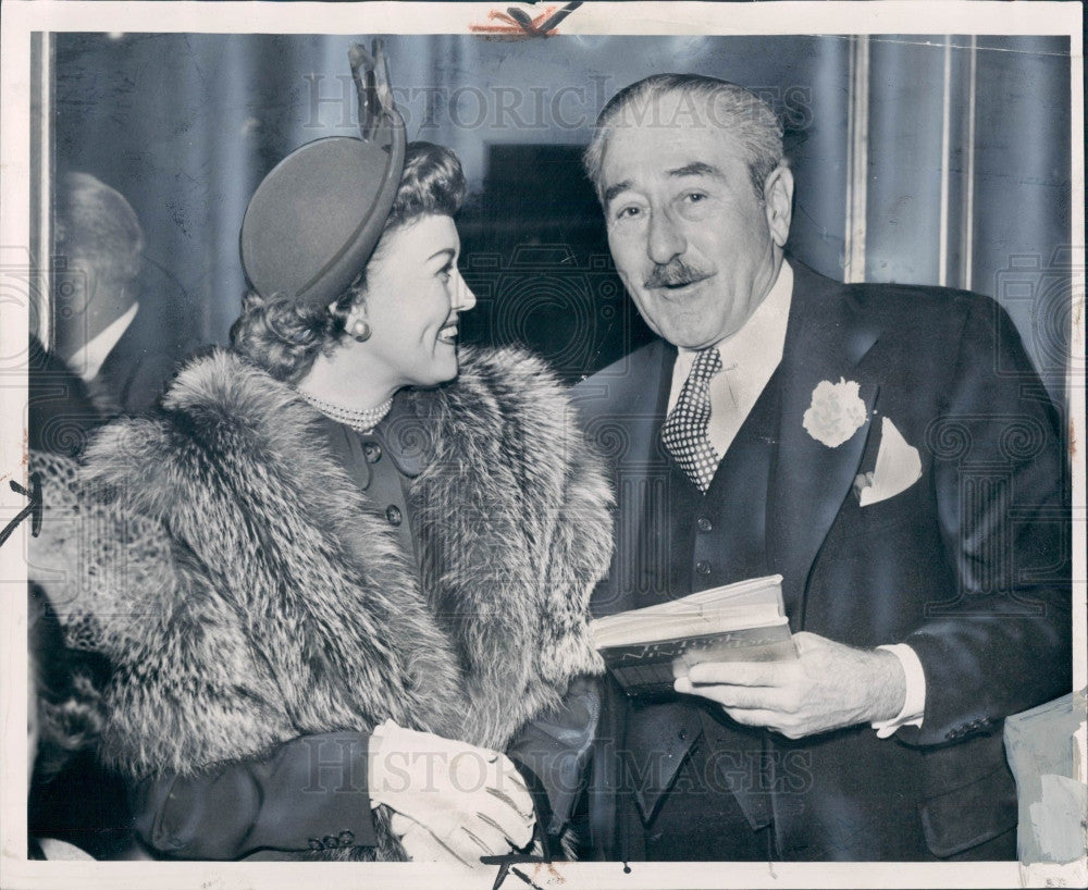 1949 Actor Adolphe Menjou Press Photo - Historic Images