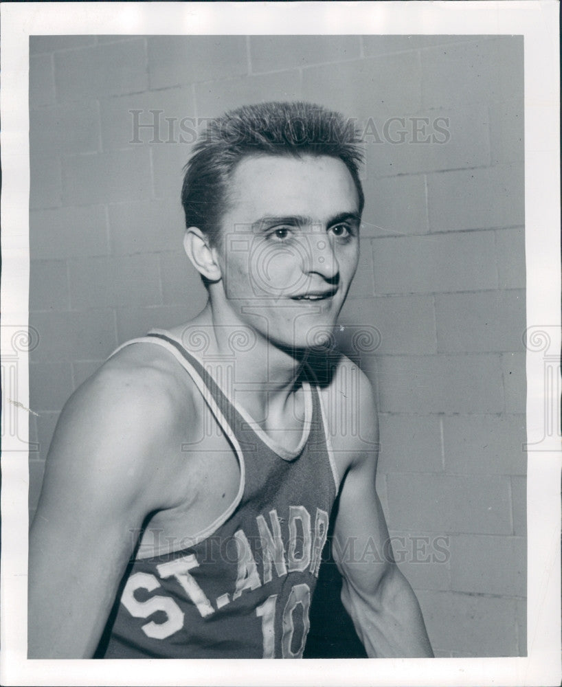 1952 Detroit St Andrews Basketball F Tanana Press Photo - Historic Images