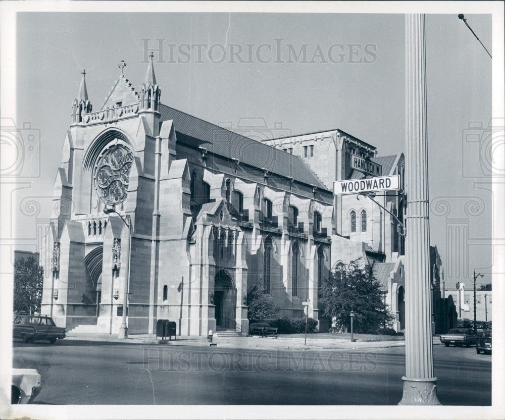 1969 Detroit St. Paul's Cathedral Press Photo - Historic Images