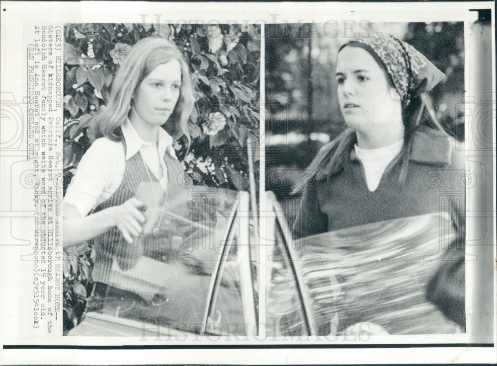 1974 Randolph Hearst Daughters Press Photo - Historic Images