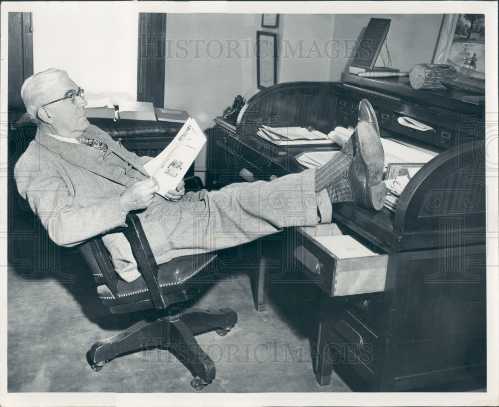 1952 Detroit Road Commissioner Leroy Smith Press Photo - Historic Images
