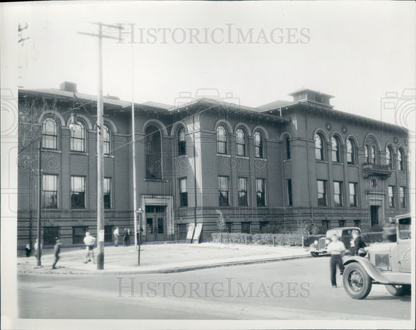 1935 Detroit Franklin School Press Photo - Historic Images
