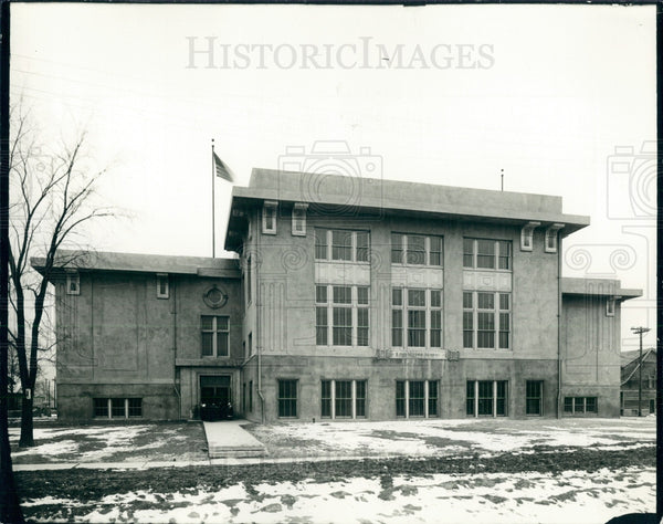 1935 Detroit Longfellow School Press Photo - Historic Images