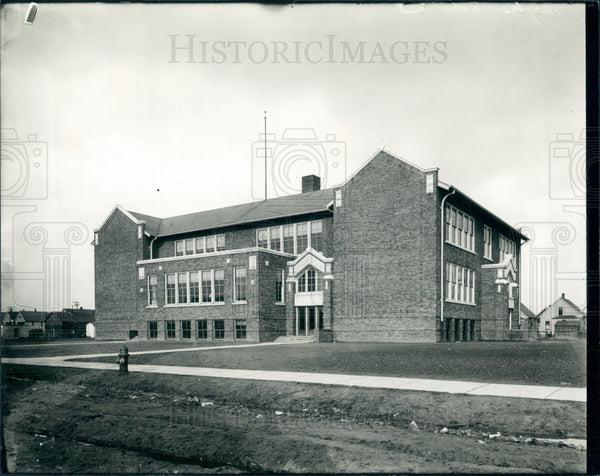 1935 Detroit Maybee School Press Photo - Historic Images