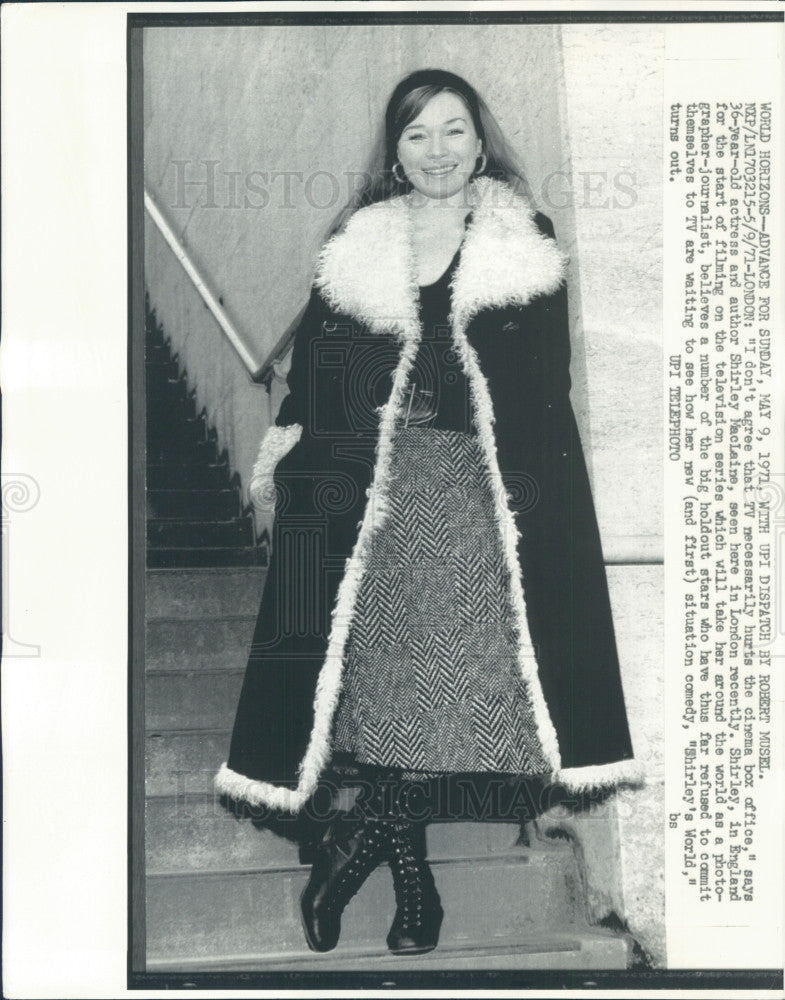 1971 Actress Shirley MacLaine Press Photo - Historic Images