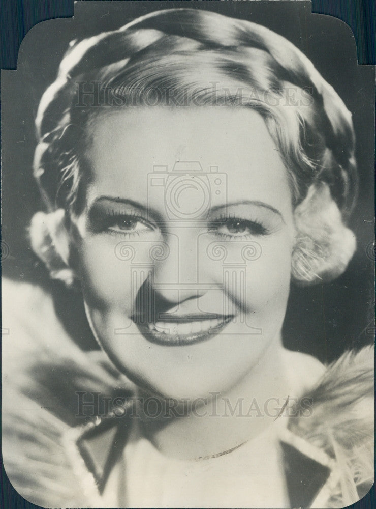 1934 Actress Verree Teasdale Press Photo - Historic Images