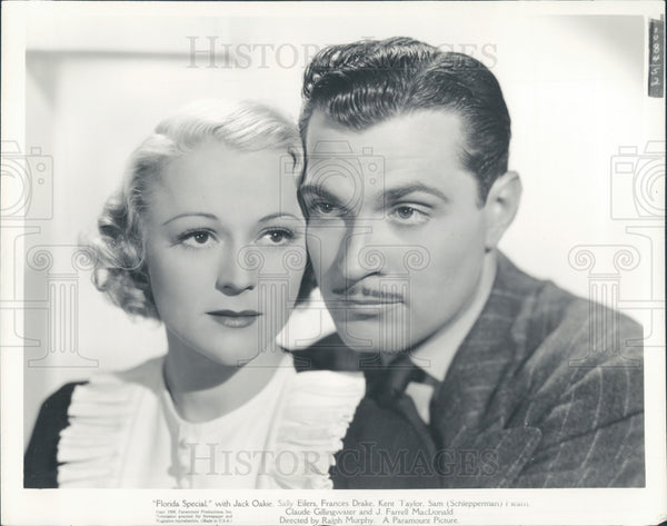 1936 Actors Kent Taylor & Sally Eilers Press Photo - Historic Images
