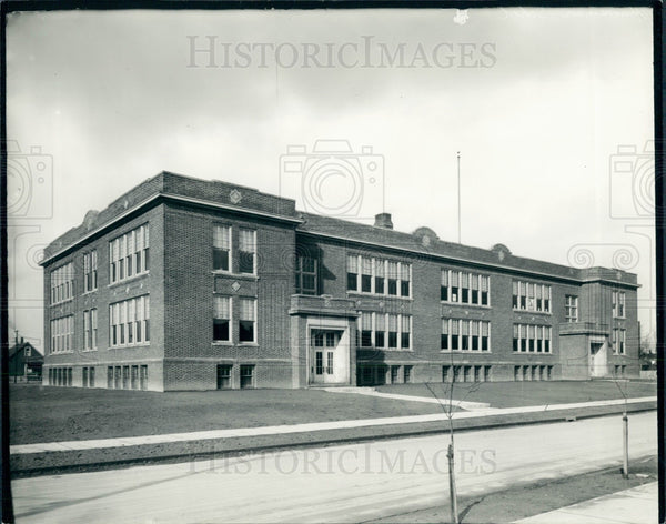 1935 Detroit Hanneman School Press Photo - Historic Images