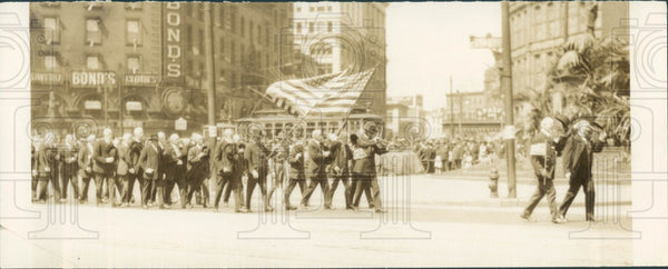 1922 Detroit MI Memorial Day Parade Press Photo - Historic Images