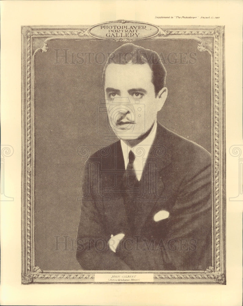 1927 Photoplayer Magazine Actor John Gilbert Photo - Historic Images