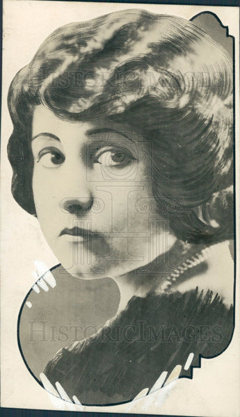 1922 Actress Valerie Bergere Press Photo - Historic Images
