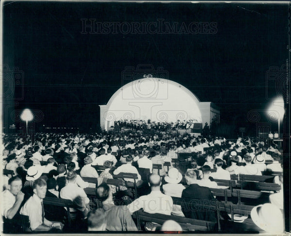 1931 Detroit MI Symphony Summer Concert Press Photo - Historic Images