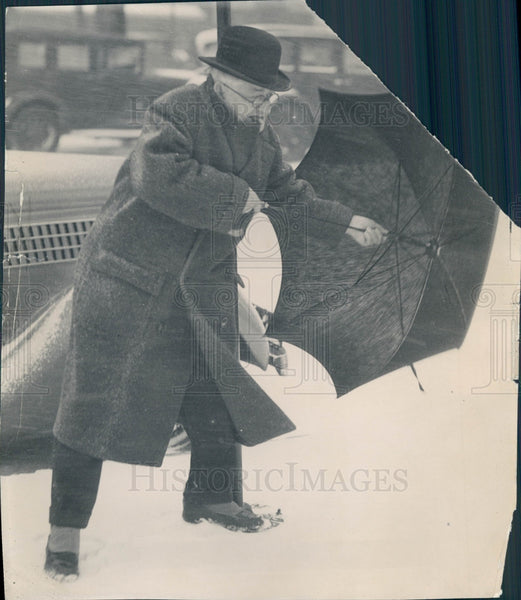 1935 Detroit Snowstorm Press Photo - Historic Images