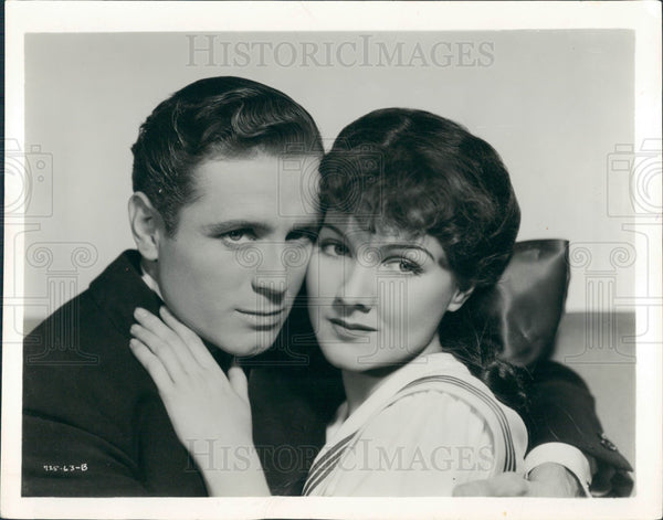 1934 Actors Jean Parker William Bakewell Press Photo - Historic Images