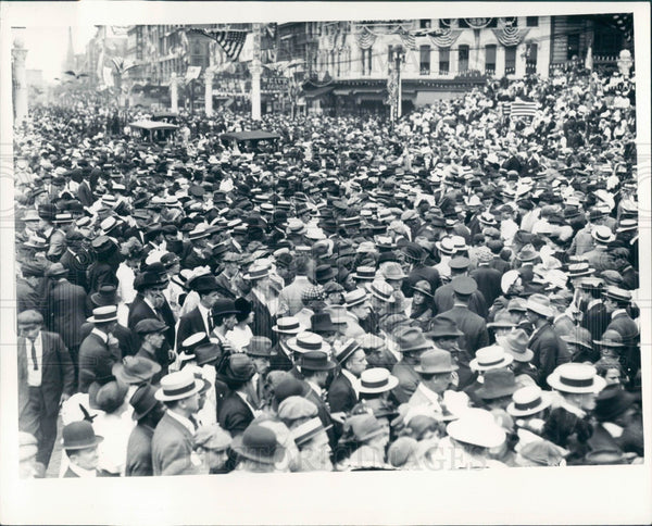 1935 Detroit 1918 World War Promo Parade Press Photo - Historic Images