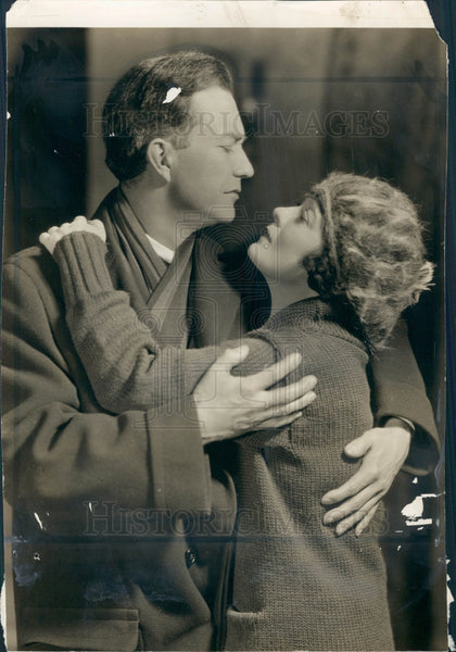 1925 Actors Minor Watson & Clara Joel Press Photo - Historic Images