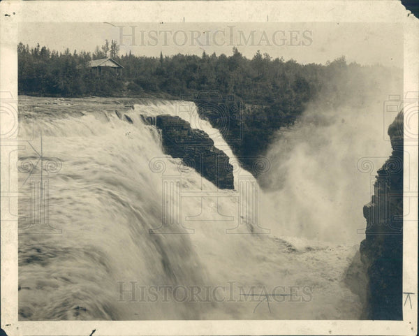 1921 Ontario Canada Kakabeka Falls Press Photo - Historic Images