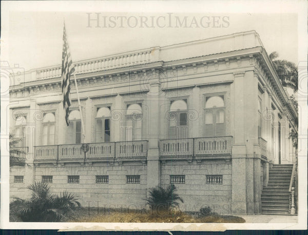 1929 Brazil US Ambassador Home Press Photo - Historic Images
