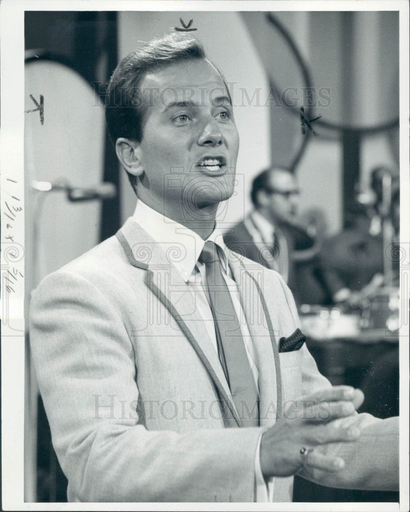 1966 Singer Actor Pat Boone Press Photo - Historic Images