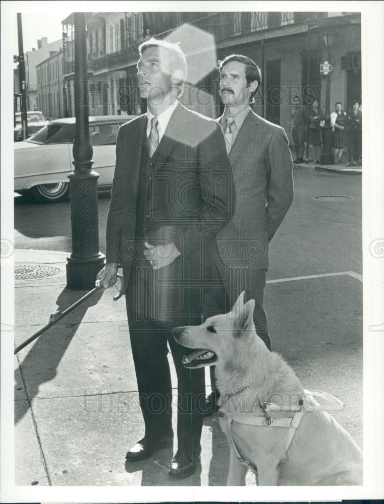 1971 Actors Bradford Dillman & J Franciscus Press Photo - Historic Images