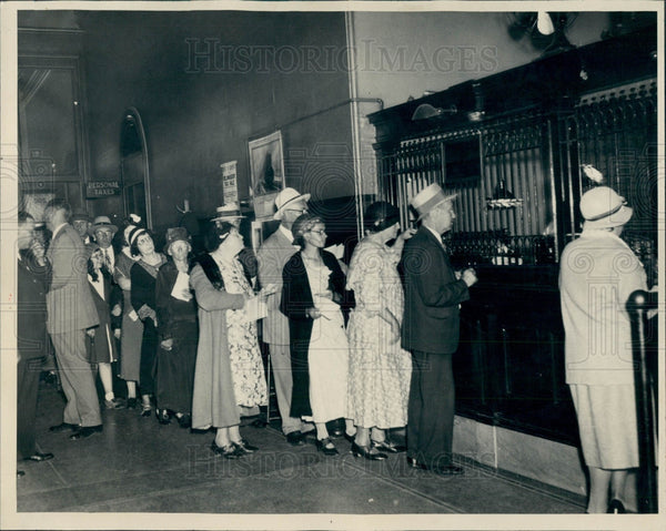 1932 Detroit City Hall Taxpayers Press Photo - Historic Images