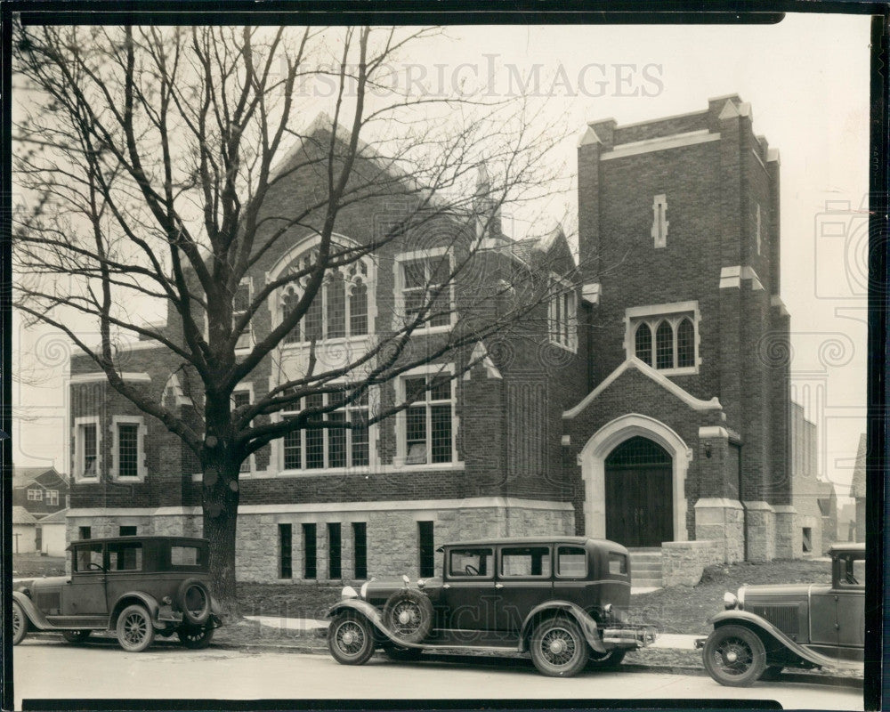 1931 Detroit Calvary Evangelical Church Press Photo - Historic Images
